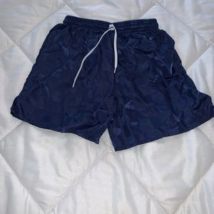 Estero kids soccer shorts blue square design Small